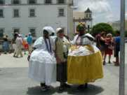 bahianaises en costume traditionel