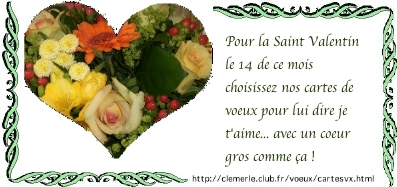 carte de la saint valentin dites lui je t'aime